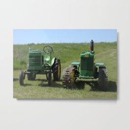 Antique Tractors Metal Print