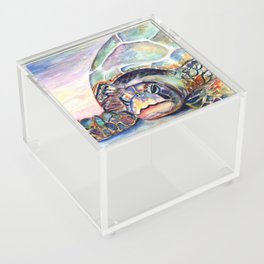 Turtle at Poipu Beach Acrylic Box