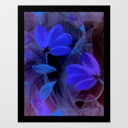 textile / flower / green  Art Print