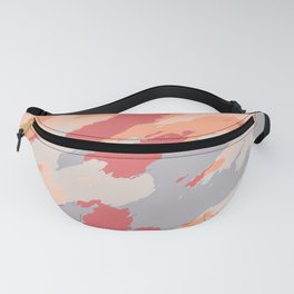 blue grey orange and brown painting abstract background Fanny Pack