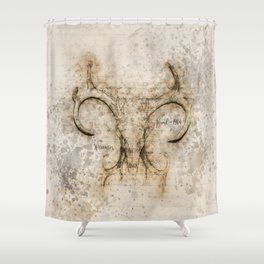 Skulled Oddity Shower Curtain