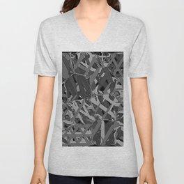 black and white squeezed Unisex V-Neck