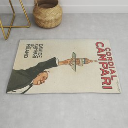Vintage 1920 Cordial Campari Advertisement by Luigi Caldanzano Rug
