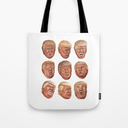 Faces Of Donald Trump Tote Bag