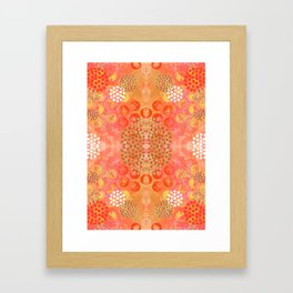Orange Fizz Framed Art Print