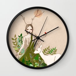 Mori girl Wall Clock