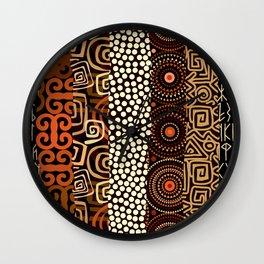 Geometric African Pattern Wall Clock