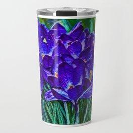 Siebers Crocus | Spring Flowers | Vivid Vioilet Oil Painting  Travel Mug