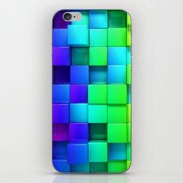 Cubos coloridos iPhone Skin