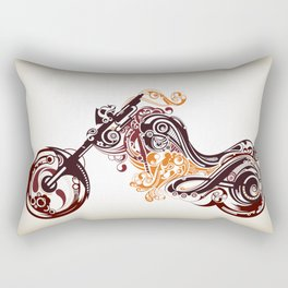 Abstract Motorcycle Rectangular Pillow