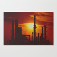 industrial Canvas Prints featuring Industrial... in Red by ChristyMichellePloch.com