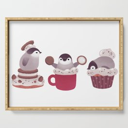 Cookie & cream & penguin Serving Tray