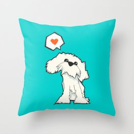 The Dog That Loves Throw Pillow