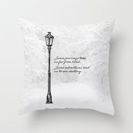 Chronicles of Narnia - Some adventures - CS Lewis Throw Pillow
