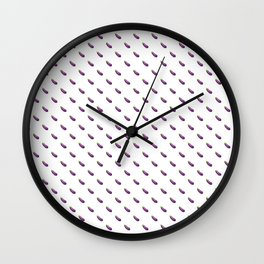Eggplant Emoji High-Res Print Wall Clock