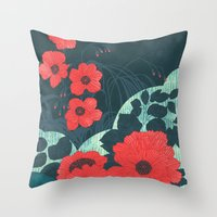 ruby Throw Pillows featuring Ruby by Tracie Andrews