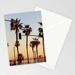 Huntington Beach Summer Sunset at the pier Stationery Cards