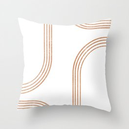Mid Century Modern 1 - Geometrical Abstract - Minimal Print - Terracotta Abstract - Burnt Sienna Throw Pillow