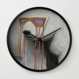 Coked Out Bear, not the soft drink Wall Clock