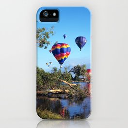 Hot air balloon scene iPhone Case