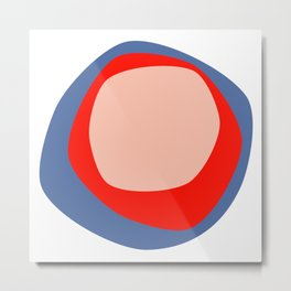 Organic circles on blue Metal Print