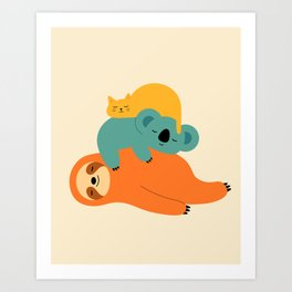 Being Lazy Art Print