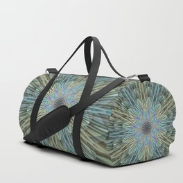 Quiet explosion of a flower mandala Duffle Bag