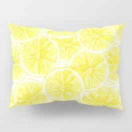 Lemon slices pattern watercolor Pillow Sham