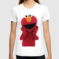 duvet cover T-shirts featuring ELMO DUVET COVER by aztosaha