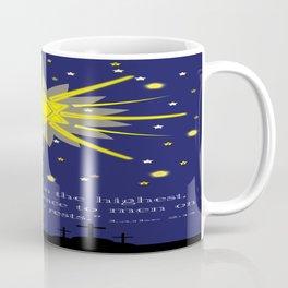 stars & crosses (luke2:14)  Coffee Mug