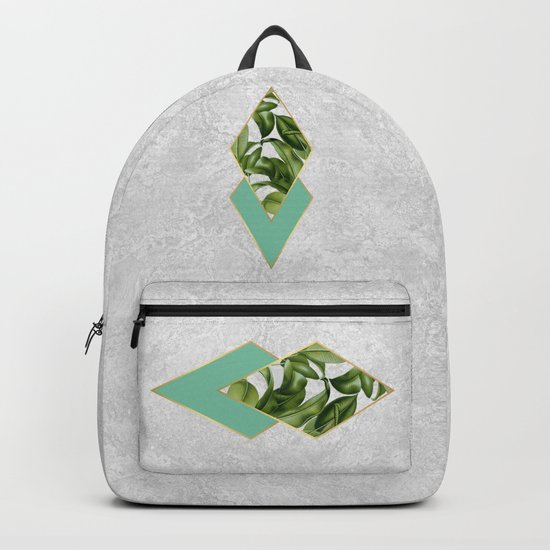Leaves on marble Backpack