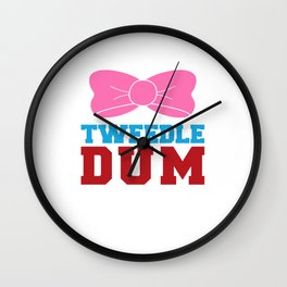 Tweedle Dee Matching Funny Graphic T-shirt Wall Clock