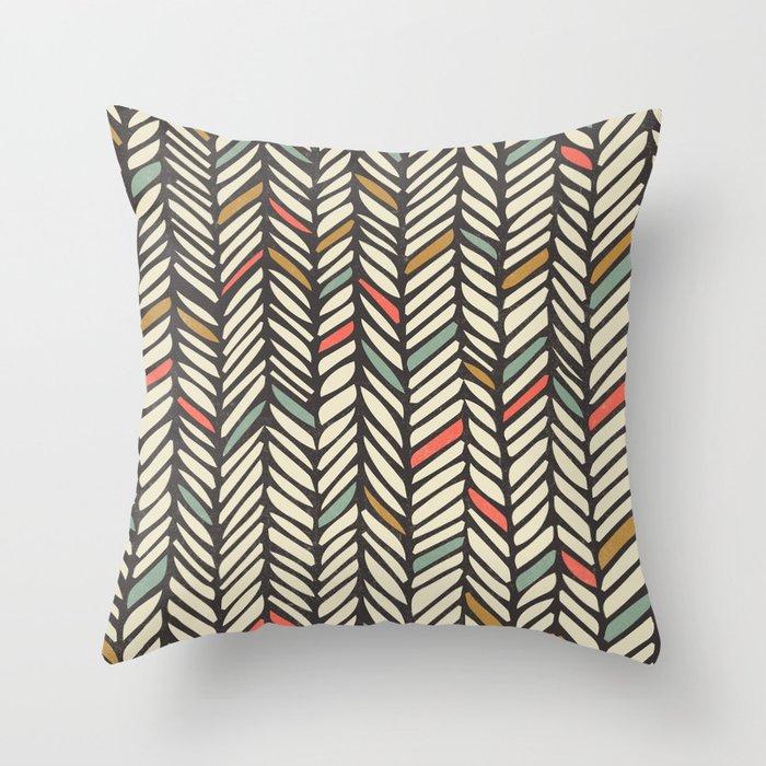 Autumn Threads Throw Pillow