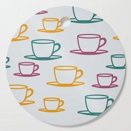 Teacups - multicolored Cutting Board