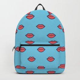 Red lips pattern design Backpack