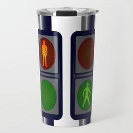 Walking Man Traffic Lights Travel Mug