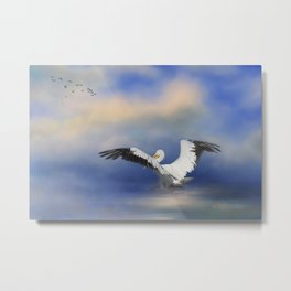 Take Off by the Sea Metal Print