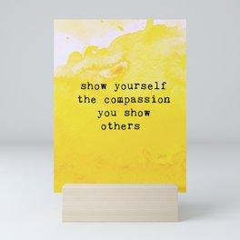 Self Care Quotes Mini Art Print