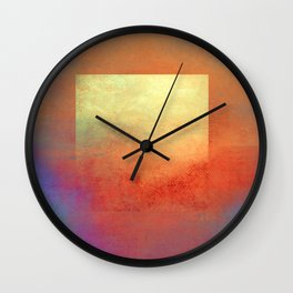 Square Composition II Wall Clock