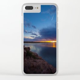 Bluewater Lake Sunset Clear iPhone Case