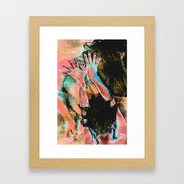 Touching water ground Framed Art Print