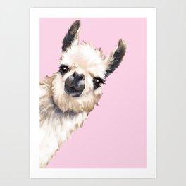 Sneaky Llama Art Print