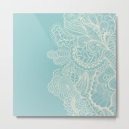 Abstract nature organic lines illustration Metal Print