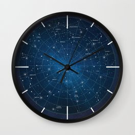 Star Constellations Map Outer Space Wall Clock