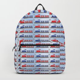 Cute Red | Blue Choo Choo Train Pattern for Baby | Toddler Boy Backpack