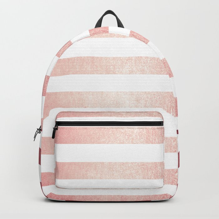 Simply Striped Rose Gold Twilight Backpack