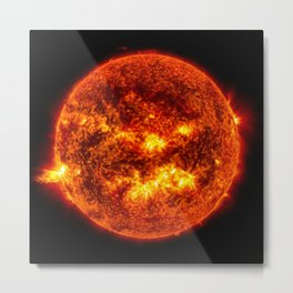 The Surface of The Sun - Burning Star Metal Print