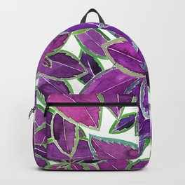 Purple leaves watercolor Backpack