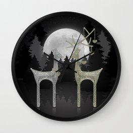 Love Joy Peace (Happy Holi-deer Sparkle)  Wall Clock