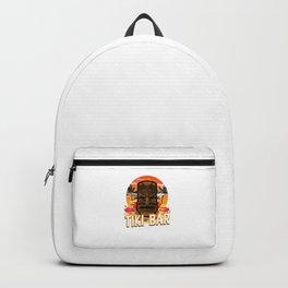 Follow Me To The Tiki Bar Hawaiian Luau Party Pun Design Vacation Gift Backpack